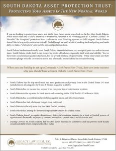 South Dakota Asset Protection Trust - In Post Pic