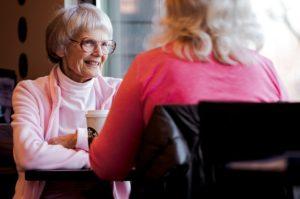grandma discussing grandchildren