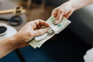 someone paying for a caregiver